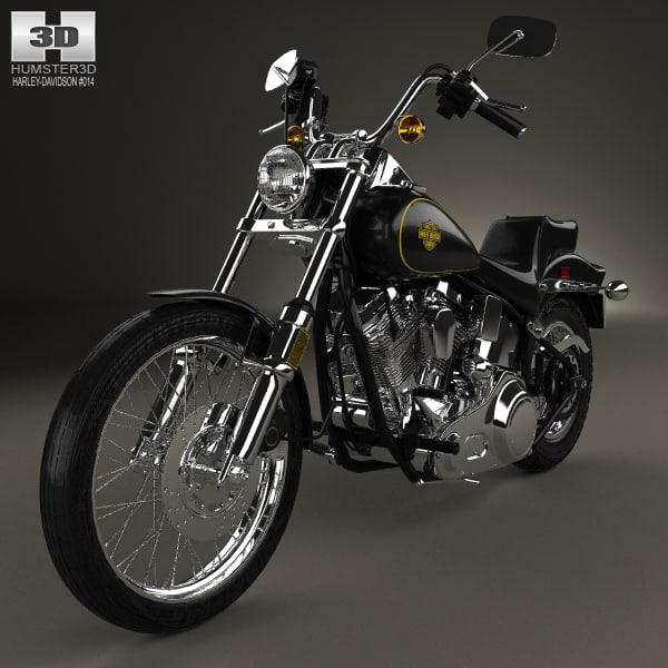 Turbo My Harley: Harley-davidson Harley Davidson 3D Model