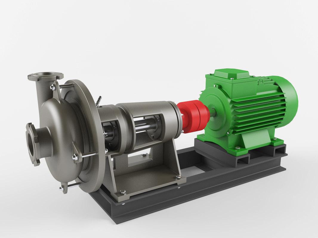 3D model pump industrial
