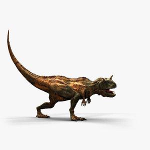 carnotaurus theropod dinosaur 3D model