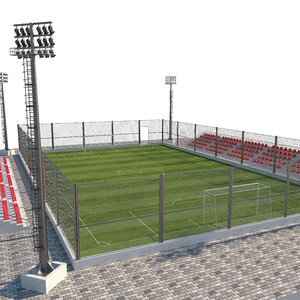 football pitch 3D model