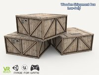 3D optimized wooden box model