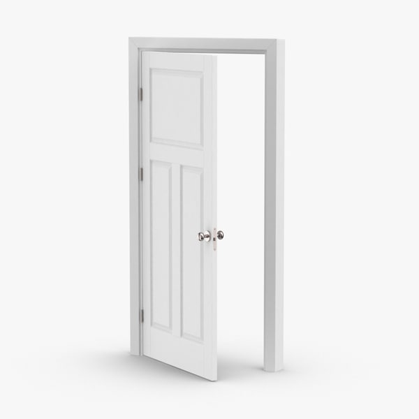 3D model interior-doors---door-2-ajar