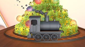 train motion tracks 3D model
