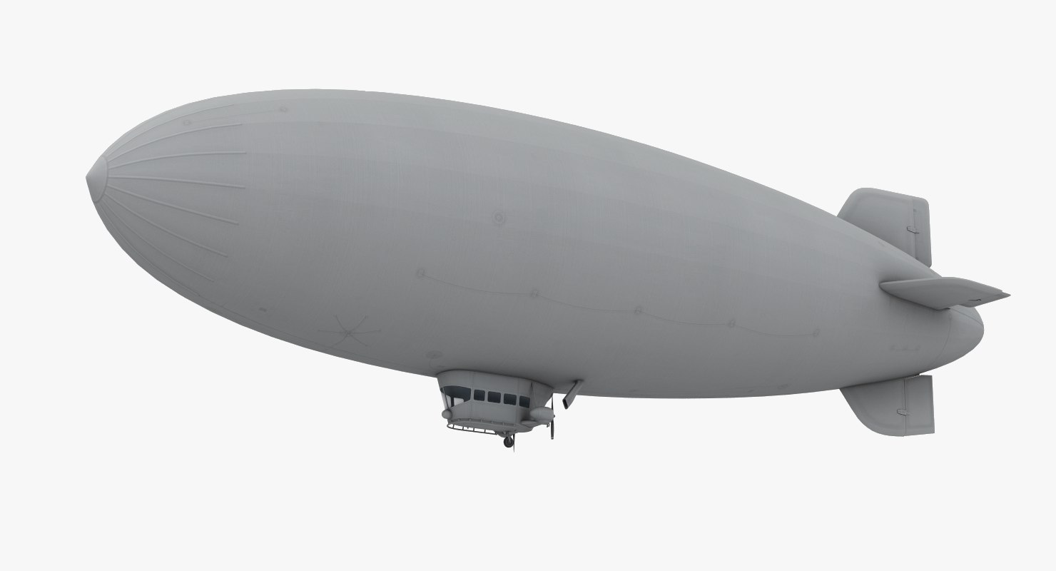 3D low-poly generic blimp