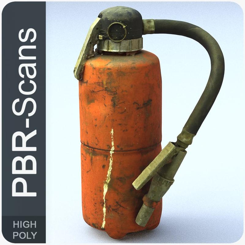 extinguisher scans 3D model