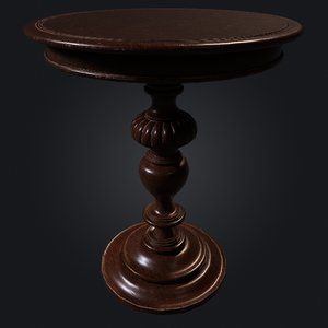 3D table 4k pbr