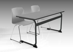 school table model