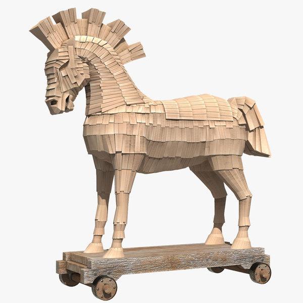 3D mythology horse trojan