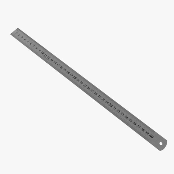 3D ruler steel