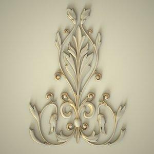 3D model carved central