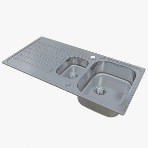 3D sink blanco lantos 6 model
