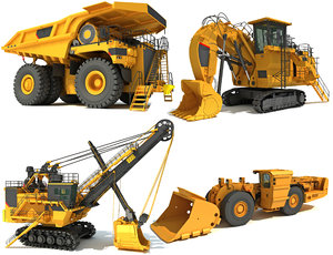 3D mining construction vehicles