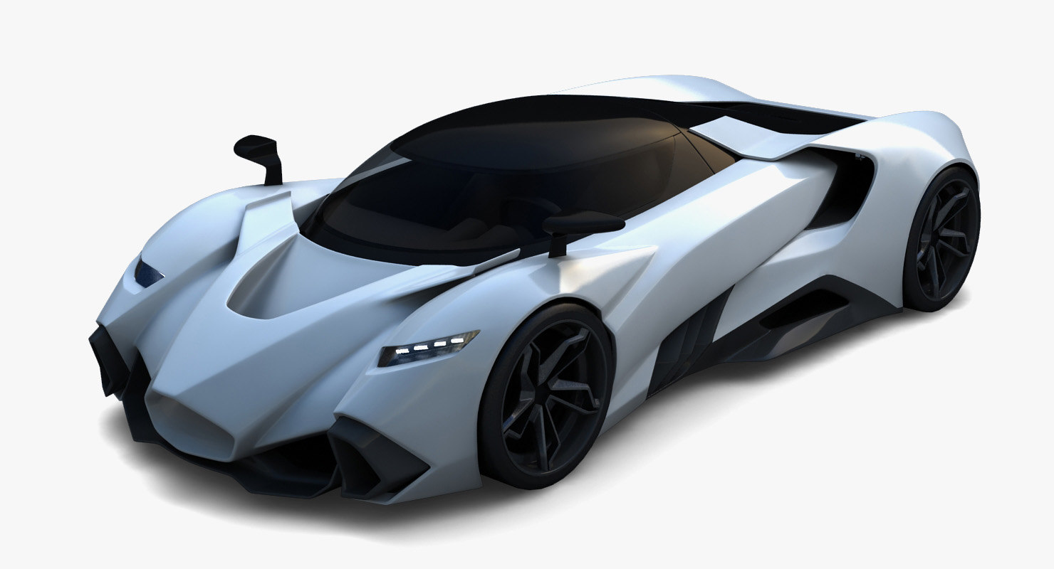 3D supercar concept