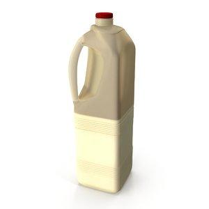 milk plastic bottle 3D model