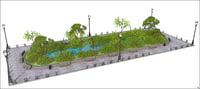 garden place font 3D model