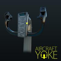 aircraft yoke 3D