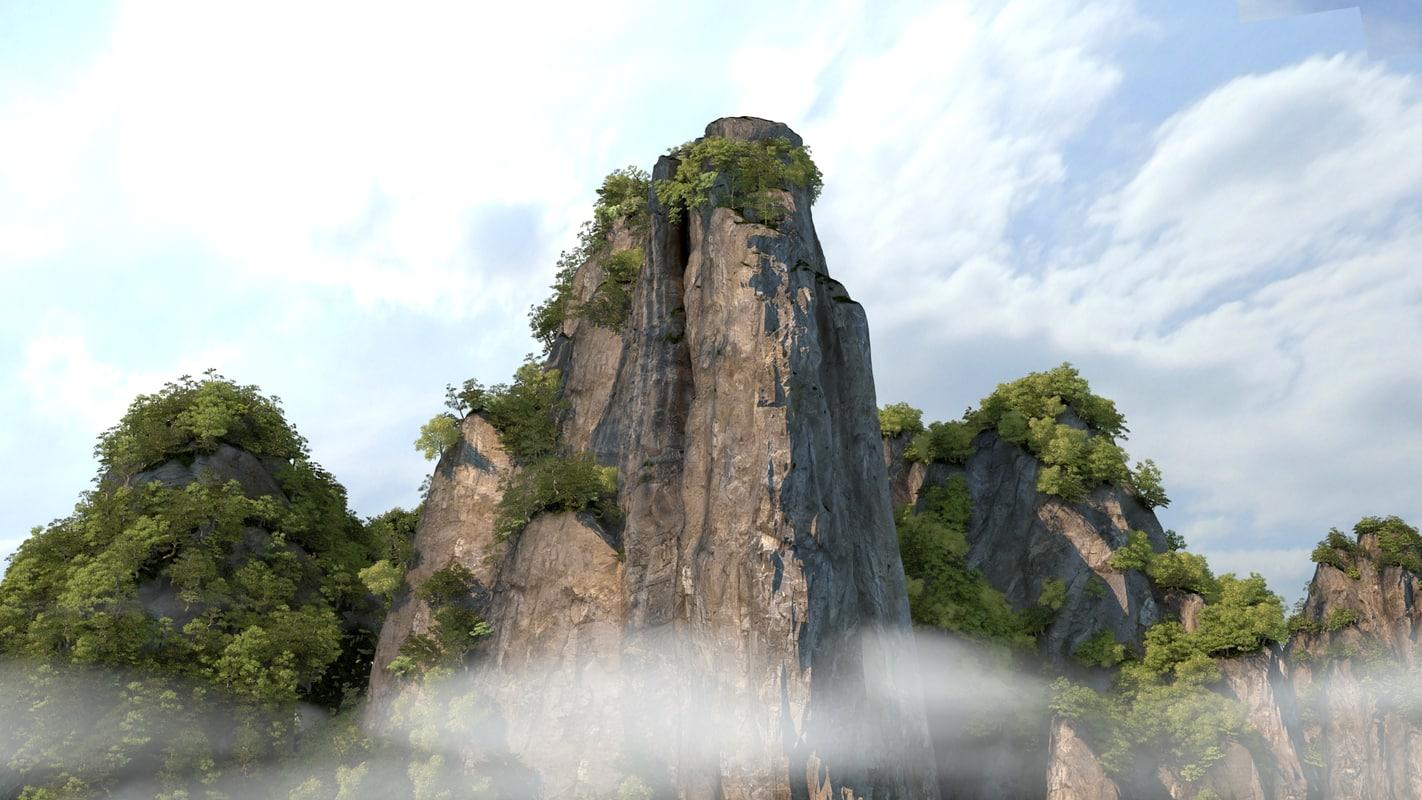 3D mountain peak