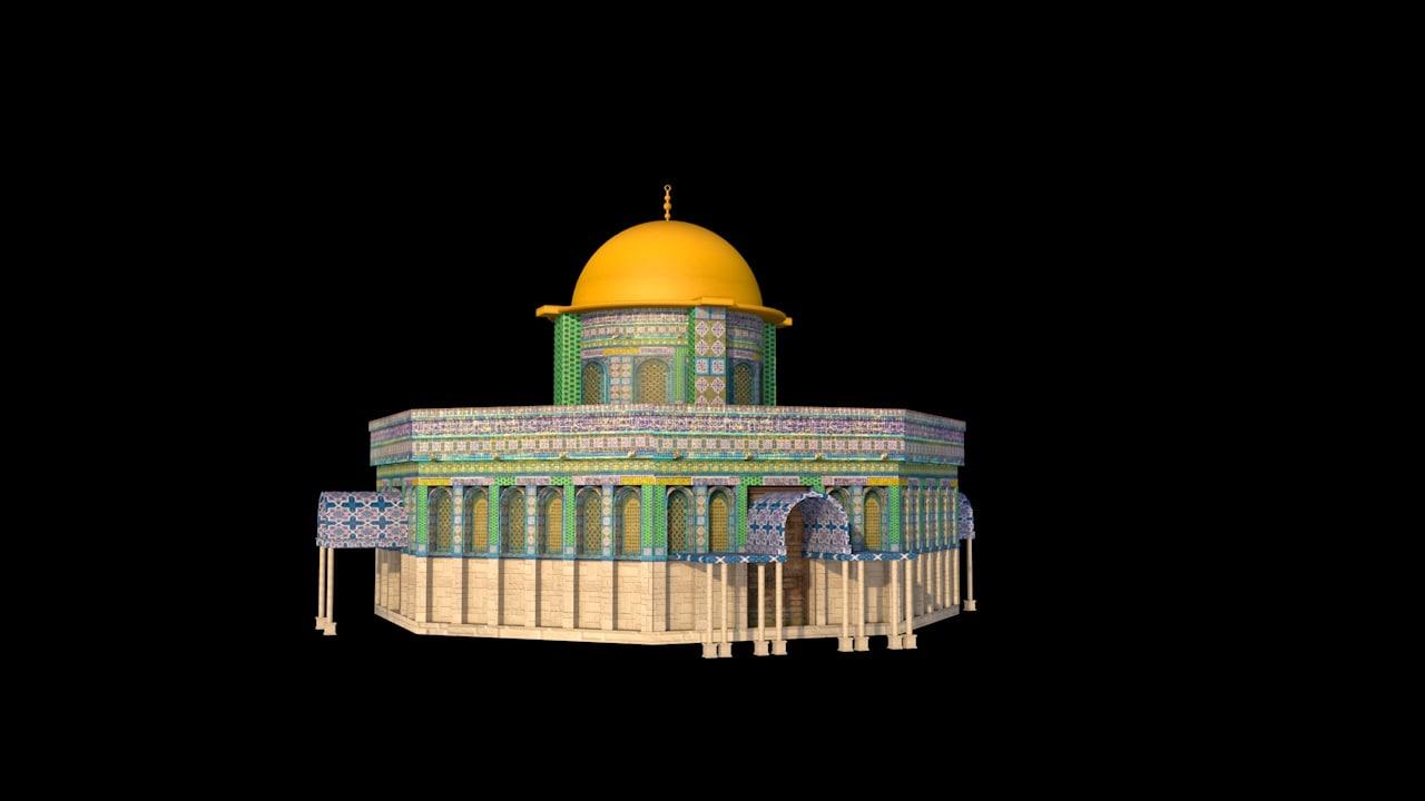 al-aqsa mosque jerusalem 3D model
