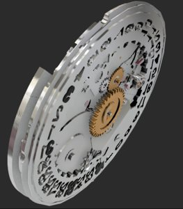 3D model eta 2824 movement