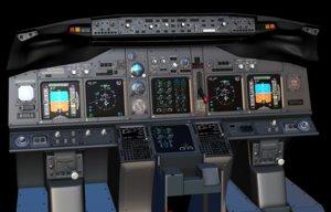 boeing 737 main instrument panel 3D model