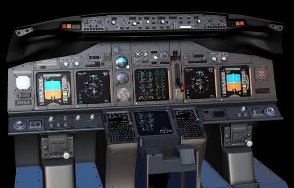 boeing 737 main instrument panel 3D model