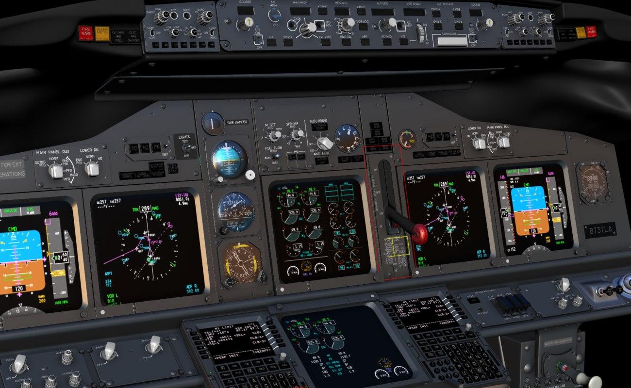 BOEING 737 MAIN PANEL COCKPIT