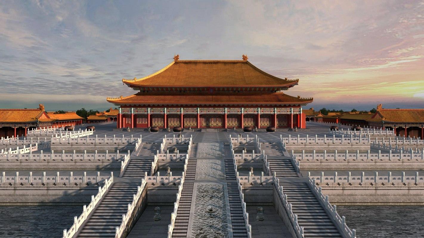 3D china palace museum model