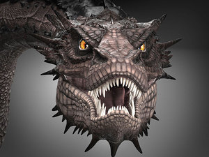 smaug hobbit dragon model