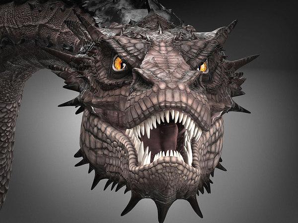 smaug hobbit dragon model