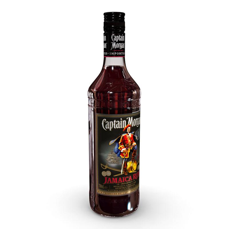 captain morgan jamaica rum 3D
