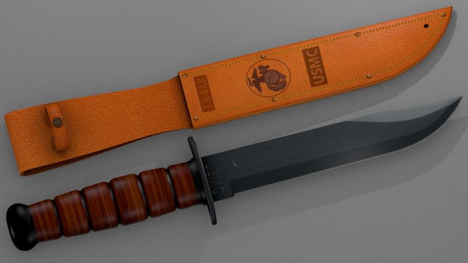 3D knife ka-bar model