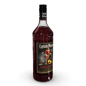 3D model captain morgan jamaica rum