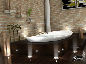 bathroom scene 3D