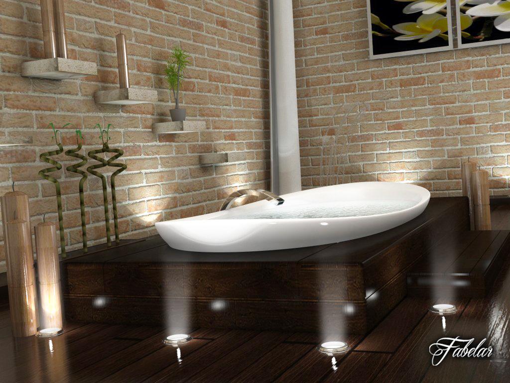 bathroom scene 3D