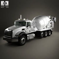 mack granite mixer 3D model