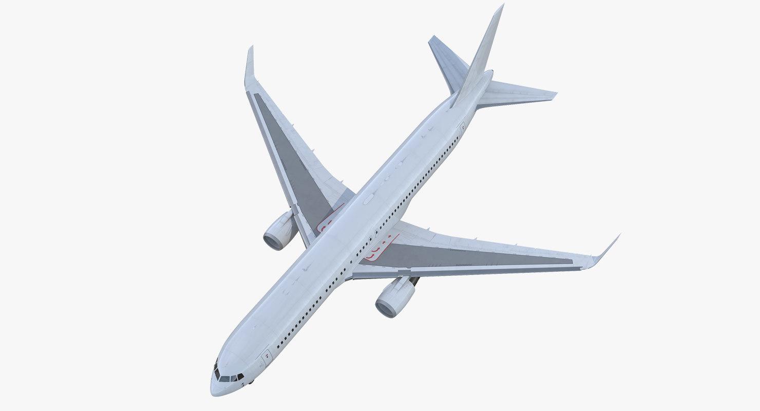 boeing 767-300er generic rigged 3D model