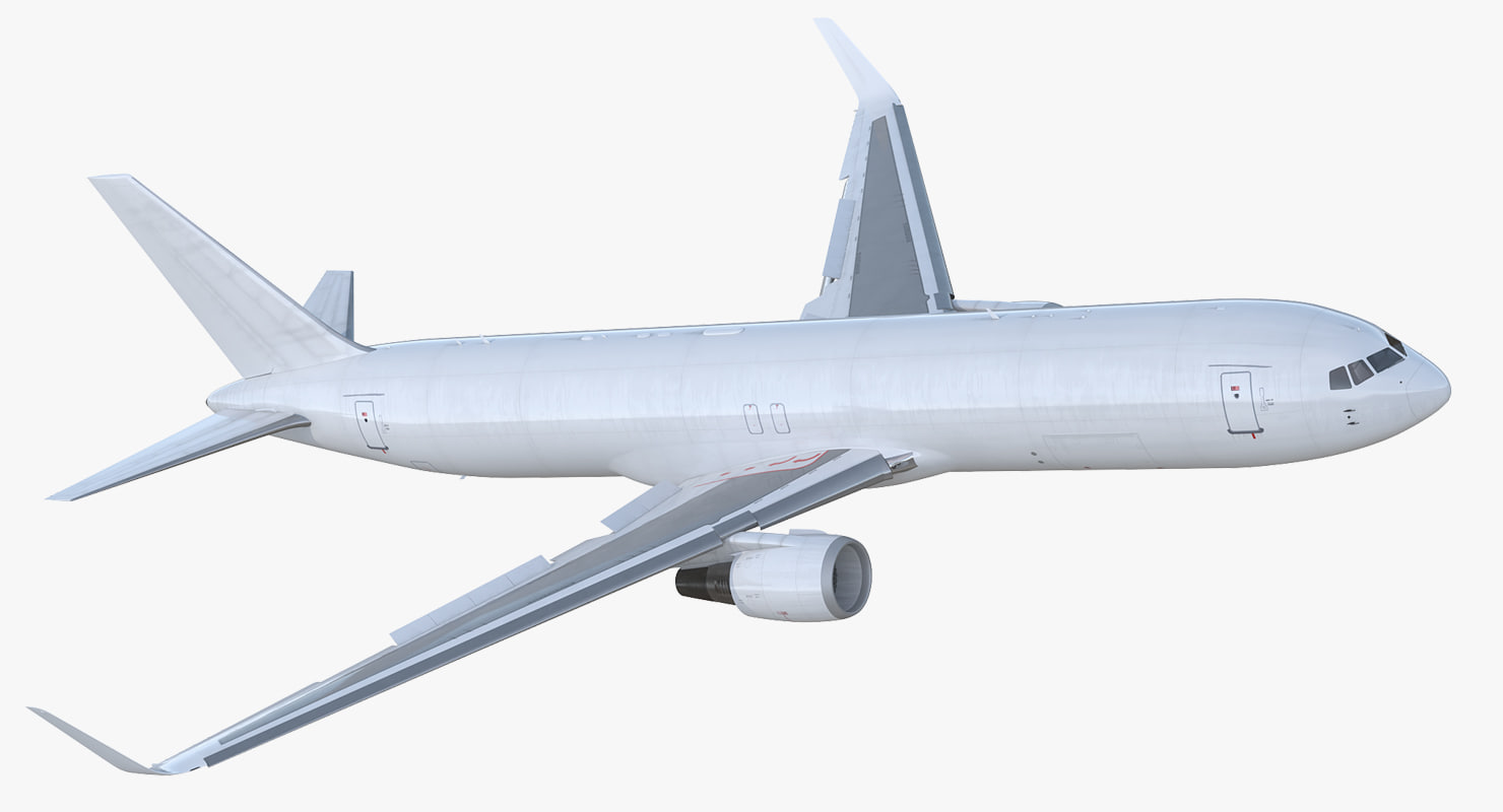 3D boeing 767-300f generic rigged model