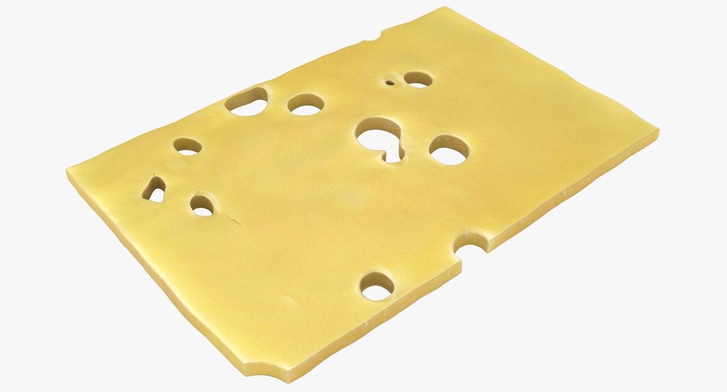 3D model cheese slice