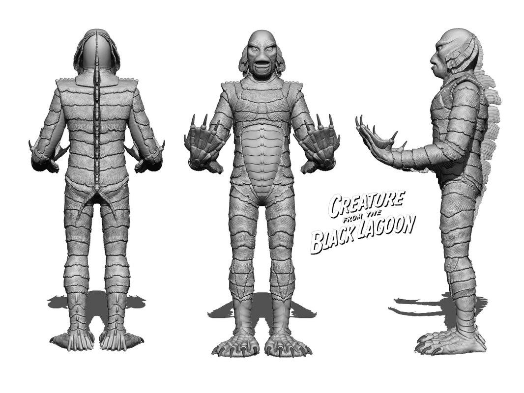 character creature black lagoon 3D