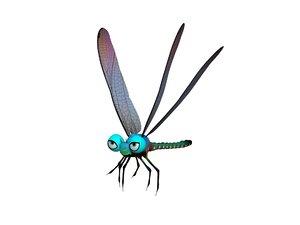 3D model cartoony dragon fly