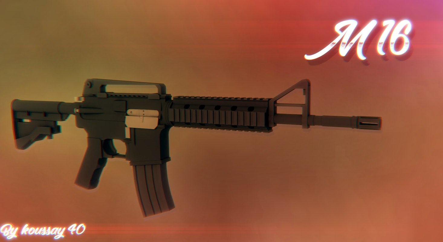 polygun m16 gun 3D