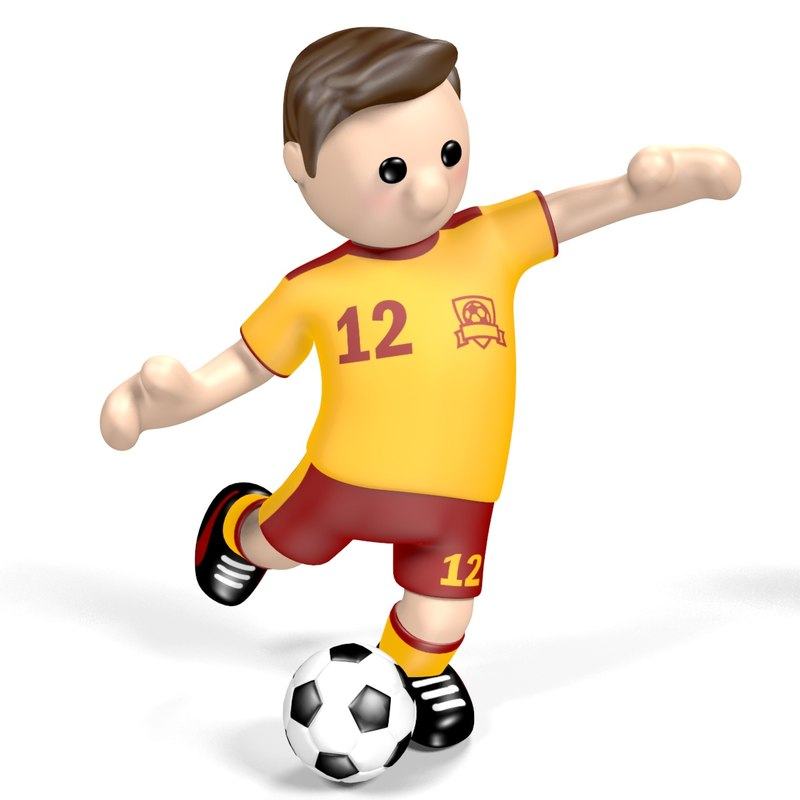 cartoon football player 3D