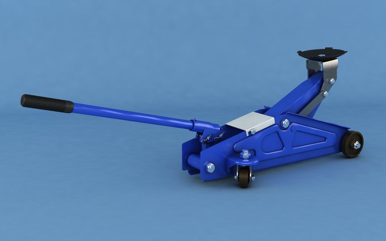 hydraulic jack 3D