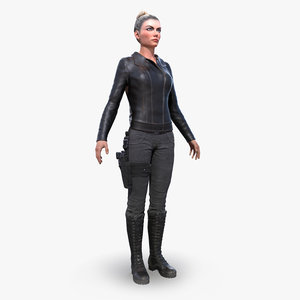 3D female agent ready model
