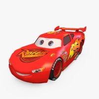 Lightning Mcqueen Low Poly