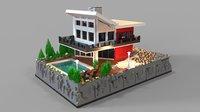 lego villa 3D model