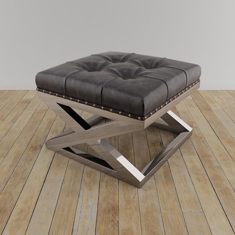 3D stool footstool