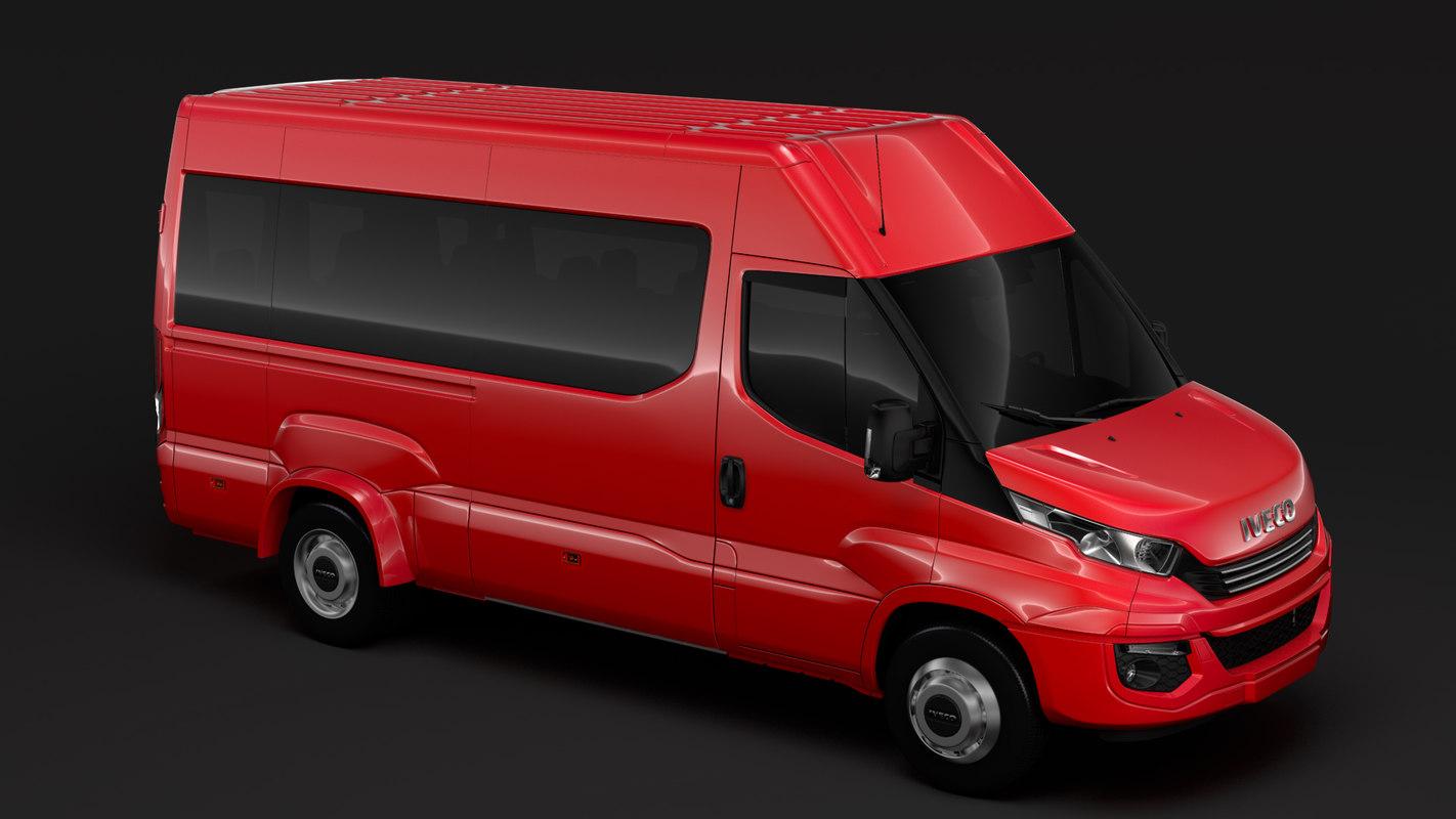 iveco daily minibus l3h2 3D model