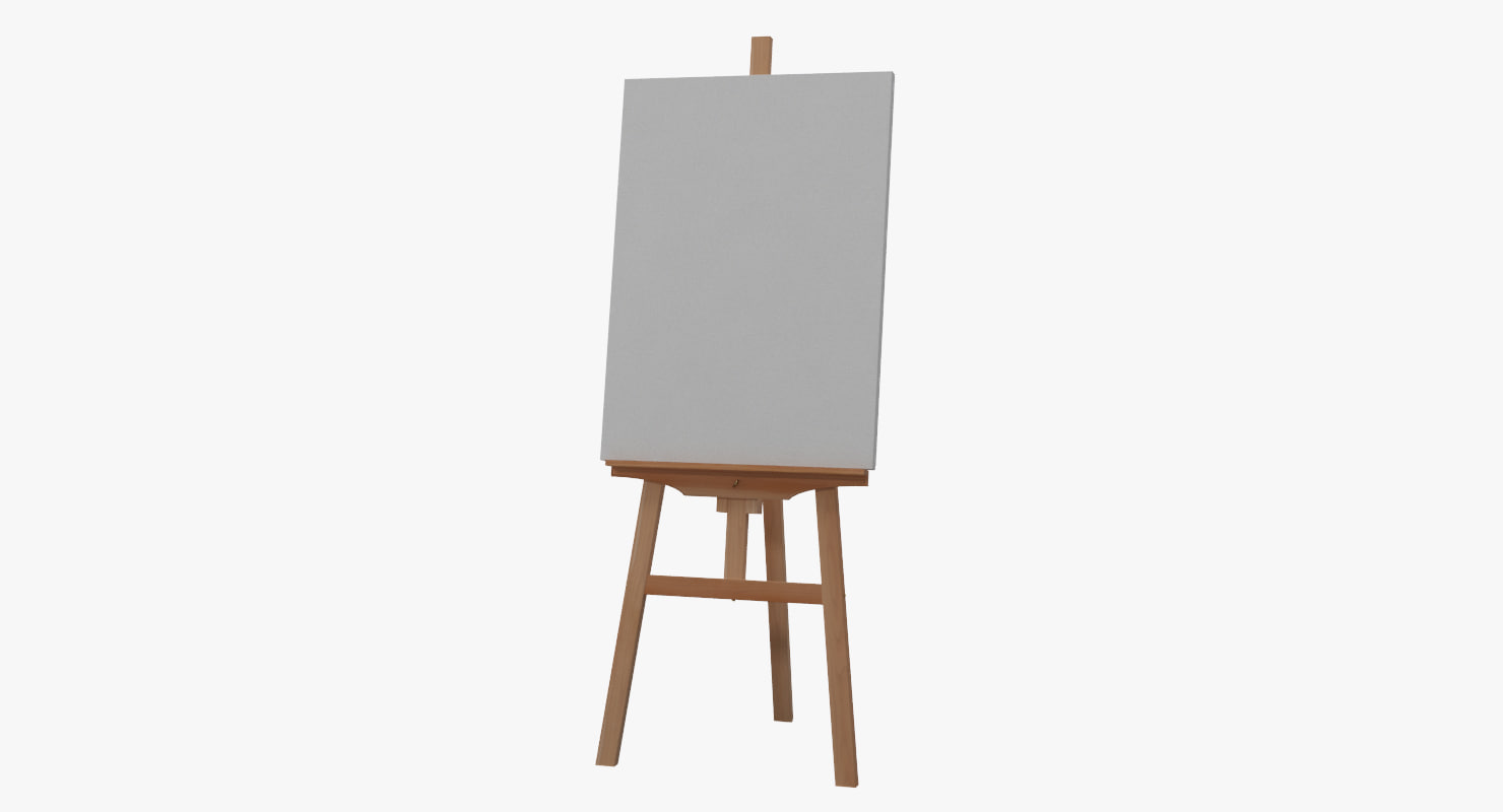 3d easel canvas picture clean turbosquid 1234125