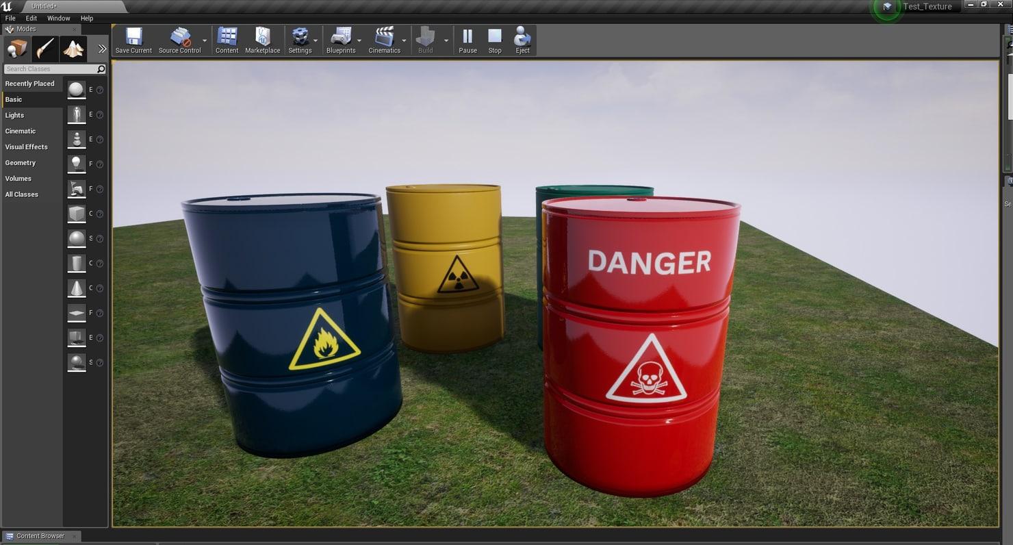 realistic barrel 3D model